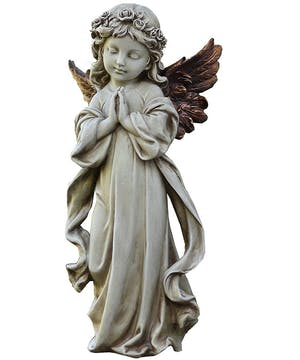 Praying Angel Statue with Bronze WIngs