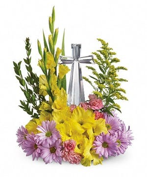 Spring Crystal Cross  Bouquet