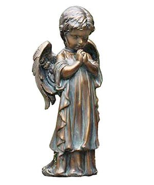 Bronze Praying Cherub Statue