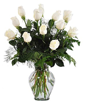 Beautiful Hand Picked White Roses