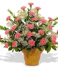 Traditional Carnation Basket
