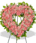 Traditional Carnation Heart