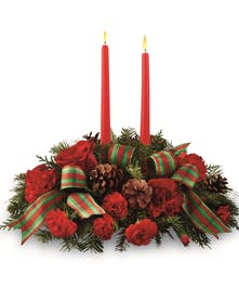 A traditional holiday centerpiece.