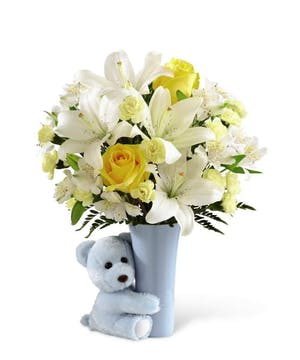 Welcome the new arrival with a keepsake vase.