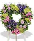 European Garden Heart Wreath