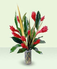 Exotic colorful vase.