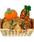 Harvest Pumpkin Cookie Basket