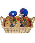 Football Themed Cookie Basket