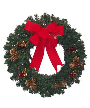 "18"" Artificial holiday wreath"