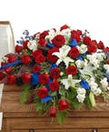 Patriotic Casket Spray