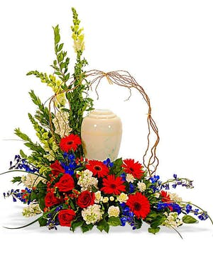 Patriotic Memorial Urn Arrangement