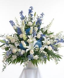 Blue & White Traditional Arrangement