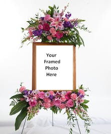 Feminine Photograph Easel Arrangement