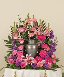 Feminine Memorial Urn Bouquet