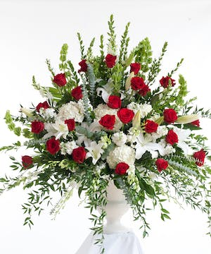Red & White Traditional Tribute