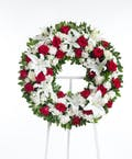 Red & White Wreath