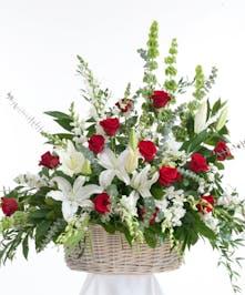 Red & White Basket