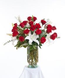 Red & White Vase