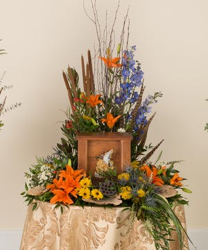 Woodland Memorial Urn Arrangement