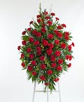 Red Carnation Easel Spray