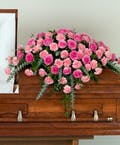 Pink Rose & Carnation Casket Spray