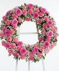 Pink Rose & Carnation Wreath