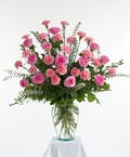 Pink Rose & Carnation Vase