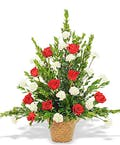 Rose & Carnation Traditional Basket