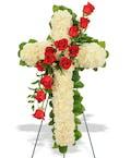 Rose & Carnation Cross