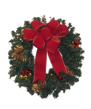 "12"" Artificial holiday wreath"