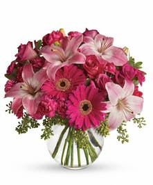 Pick up their spirits with this pink bouquet