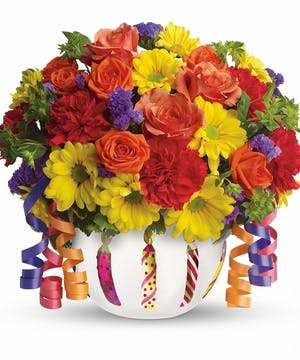 Complete the celebration with this festive bouquet