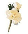 White Mini-Carnation Boutonniere