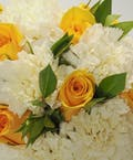Yellow Rose & White Carnation Easel Spray