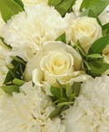 White Rose & White Carnation Easel Spray