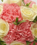 White Rose & Pink Carnation Easel Spray