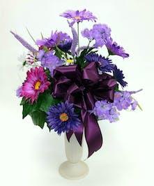 Memorial tributes for loved ones local florist phoenix flower purple cemetery tribute mightylinksfo