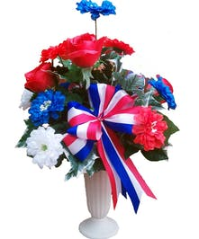 Memorial tributes for loved ones local florist phoenix flower patriotic cemetery tribute mightylinksfo