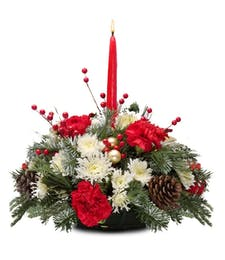 One Candle Holiday Centerpiece