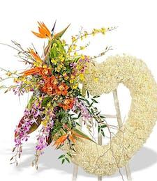 Tropical Heart Wreath