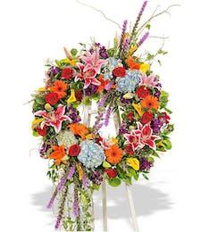 Vibrant Garden Wreath